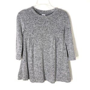 Baby GAP sweater dress gray long sleeves 2T